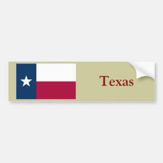 Texas State Flag Bumper Sticker