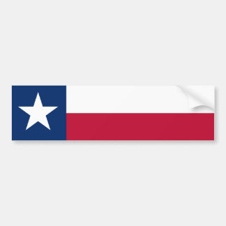 Texas State Flag Bumper Sticker