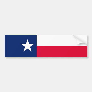 Texas State Flag Design Bumper Sticker