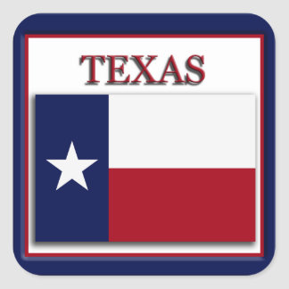 Texas State Flag Design Sticker
