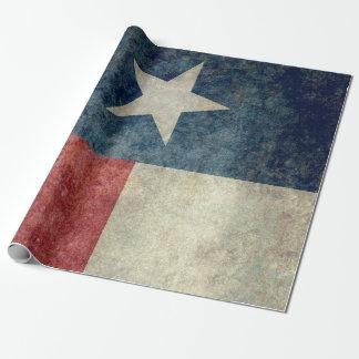 Texas state flag gift wrap Vintage retro style