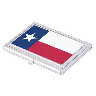 Texas state flag - high quality authentic color business card holder