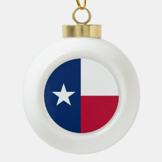 Texas state flag - high quality authentic color ceramic ball decoration