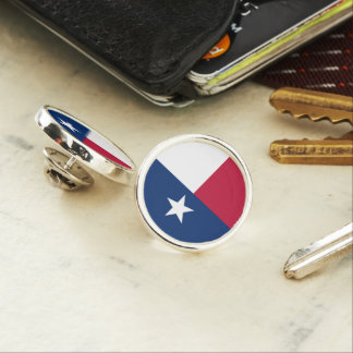 Texas state flag - high quality authentic color lapel pin
