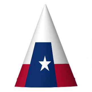 Texas state flag - high quality authentic color party hat