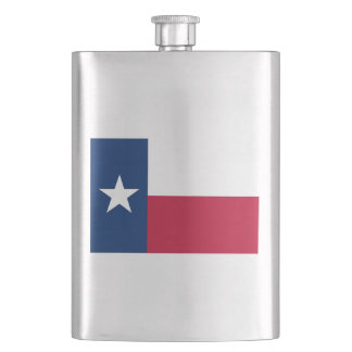 Texas State Flag Hip Flask