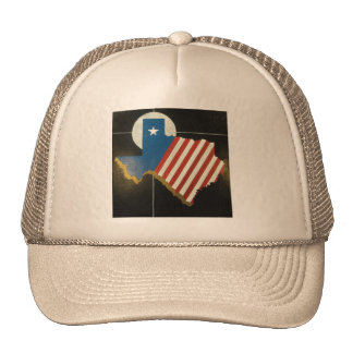 Texas state flag image trucker hats