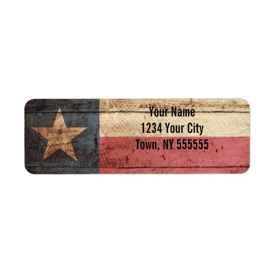 Texas State Flag on Old Wood Grain