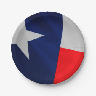 Texas State Flag Paper Plates