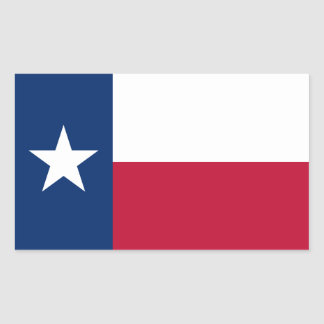 Texas State Flag Rectangular Stickers