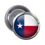 Texas State Flag Round Glass Ball 6 Cm Round Badge