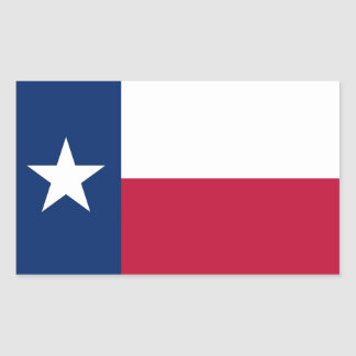 Texas State Flag Rectangle Sticker