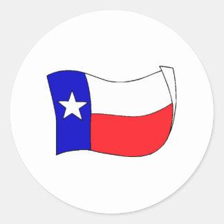 Texas State Flag Round Stickers