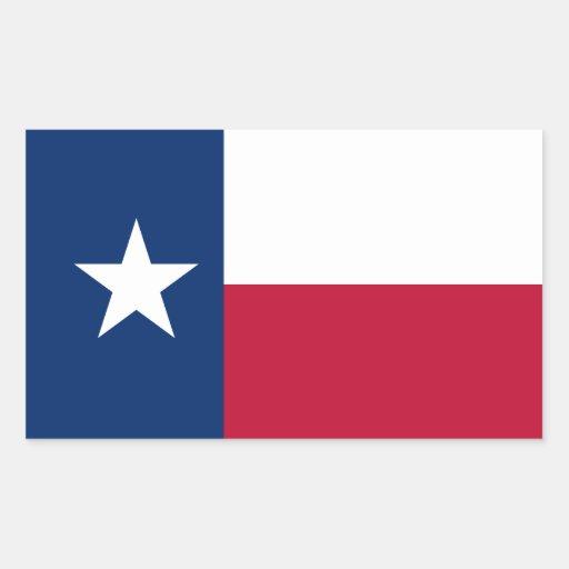 Texas State Flag Rectangular Stickers