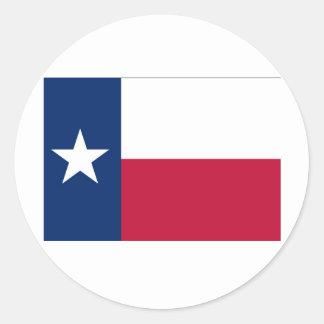 Texas State Flag Round Sticker