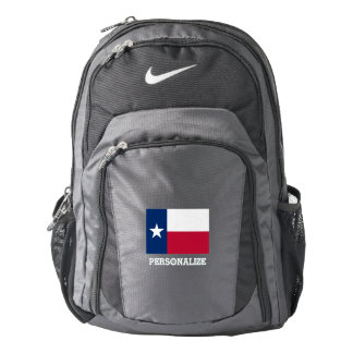 Texas state flag Texan pride custom Nike backpack