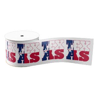 Texas state flag typography design grosgrain ribbon