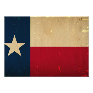 Texas State Flag VINTAGE Personalized Invitations
