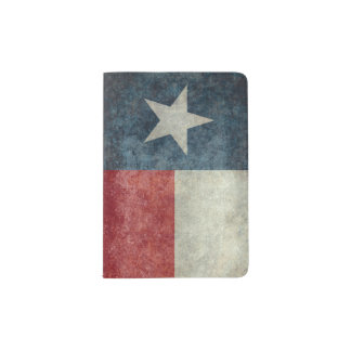 Texas state flag vintage Passport holder Cover