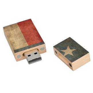 Texas state flag vintage reto USB Flash Drive Wood USB 2.0 Flash Drive