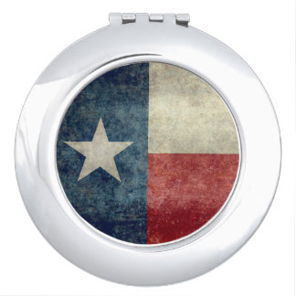 Texas state flag vintage retro Compact Mirror