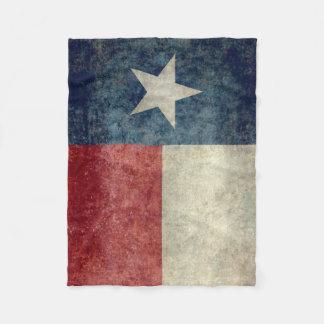 Texas state flag vintage retro Fleece Blanket