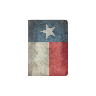 Texas state flag vintage retro Passport Cover