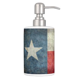 Texas state flag vintage retro style bathroom set