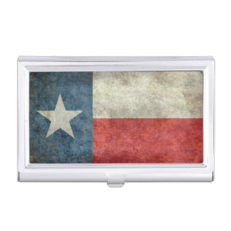 Texas state flag vintage retro style card holder case for business cards