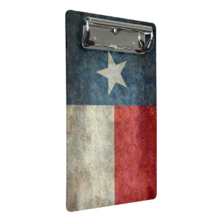 Texas state flag vintage retro style clip board