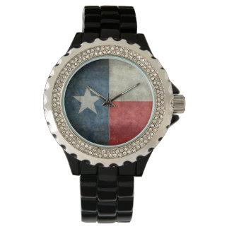 Texas state flag vintage retro style ladies watch