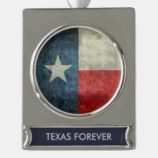 Texas state flag vintage retro style ornament