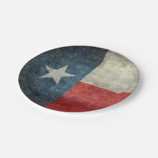 Texas state flag vintage retro style Paper Plates 7 Inch Paper Plate