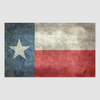 Texas state flag vintage retro style rectangular sticker