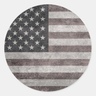 Texas state flag vintage retro style round sticker