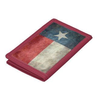 Texas state flag vintage retro style wallet