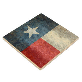 Texas state flag vintage retro style Wood Coasters