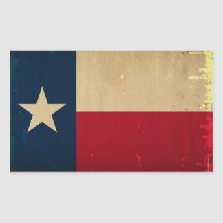 Texas State Flag VINTAGE Rectangle Sticker