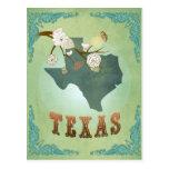 Texas State Map – Green Postcard