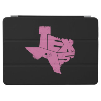 Texas State Map Pink Lettering iPad Air Cover