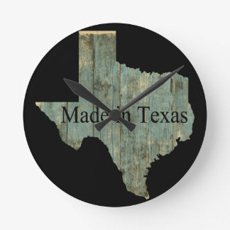Texas State Map Rugged Lumber Wall Clock