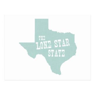 Texas State Motto Slogan Postcard