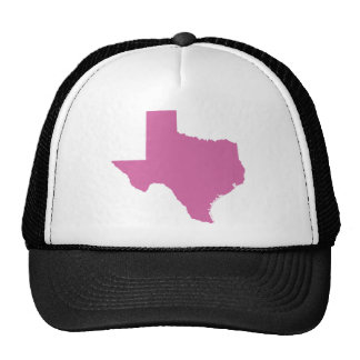 Texas State Outline Mesh Hats