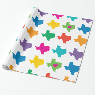 Texas State Pattern Wrapping Paper- Bright Colors Wrapping Paper