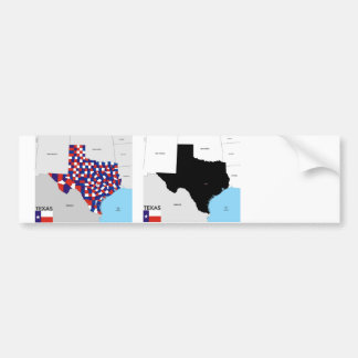 texas state political map shape flag america bumper sticker