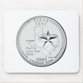 Texas State Quarter Mousepad