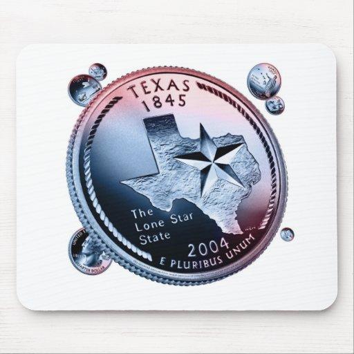 Texas state quarter mousepads