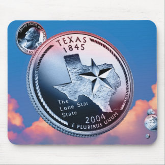 Texas State Quarter Mouse Pads