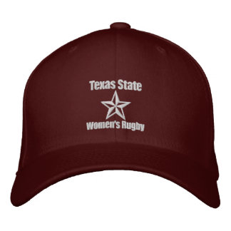 texas state rugby2 embroidered baseball cap