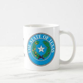Texas State Seal and Motto Basic White Mug